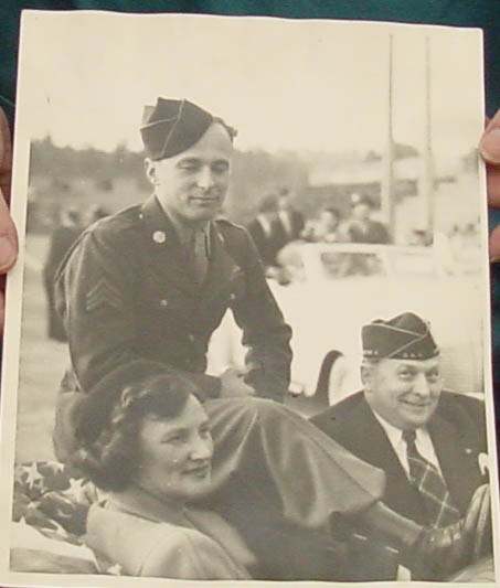 John Hawk with his parents