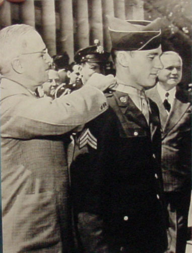 Mr John Hawk receives Medal of Honor from President Harry Truman